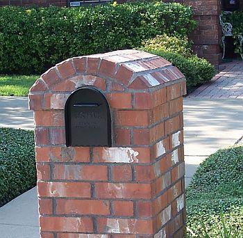 Brick Mailbox with Precision Cut Eyebrow Arch