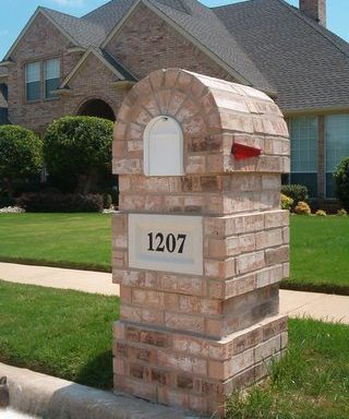Cast Stone Number block for Brick Mailbox