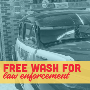 free wash for law enforcement