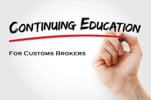 customs brokers education