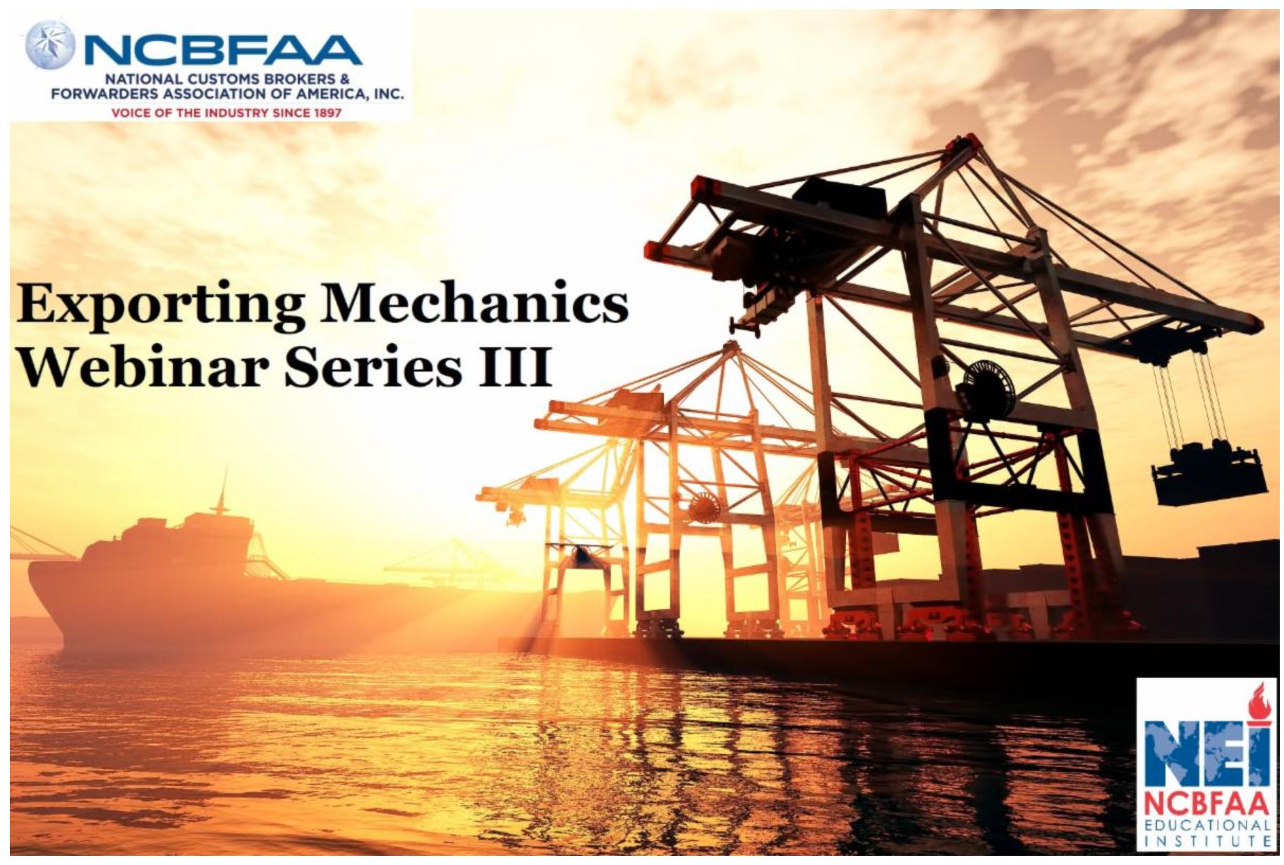 Exporting Mechanics Webinar Series III
