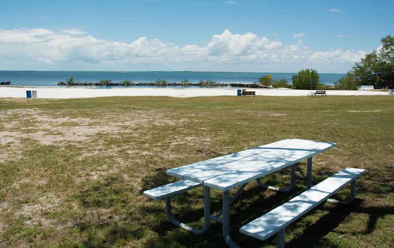 Rowell's Waterfront Park features picnic tables, benches, a beach, swimming and a launch for kayaks, paddleboards and canoes.