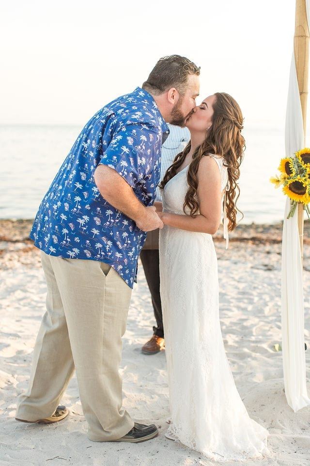 Real Destination Wedding at Sombrero Beach in Marathon in the Florida Keys