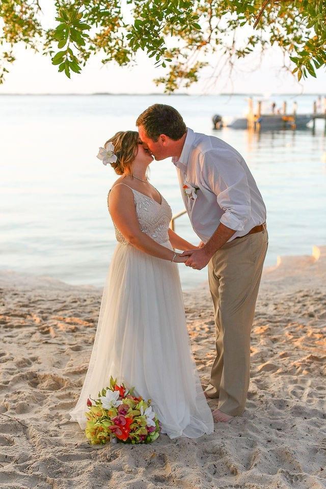 Real Wedding in Key Largo – Seashell Elopement – Sara and Josh