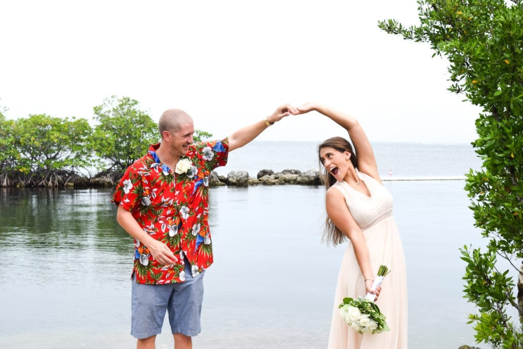 Real Wedding in Key Largo – Alexandra and Andrew – Seashell Package