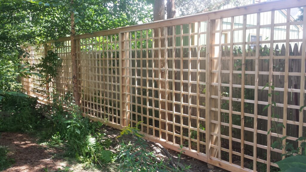4 Inch Square Cedar Lattice