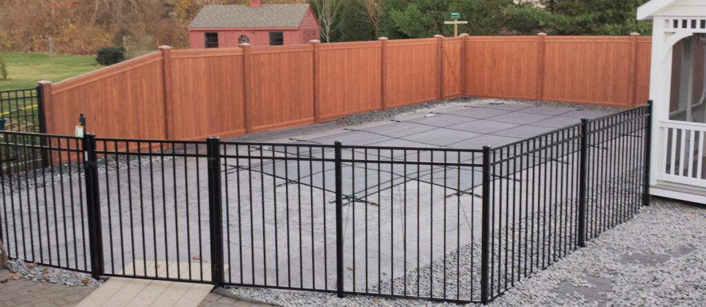 54 Inch 3 Rail Residential Pool Fence