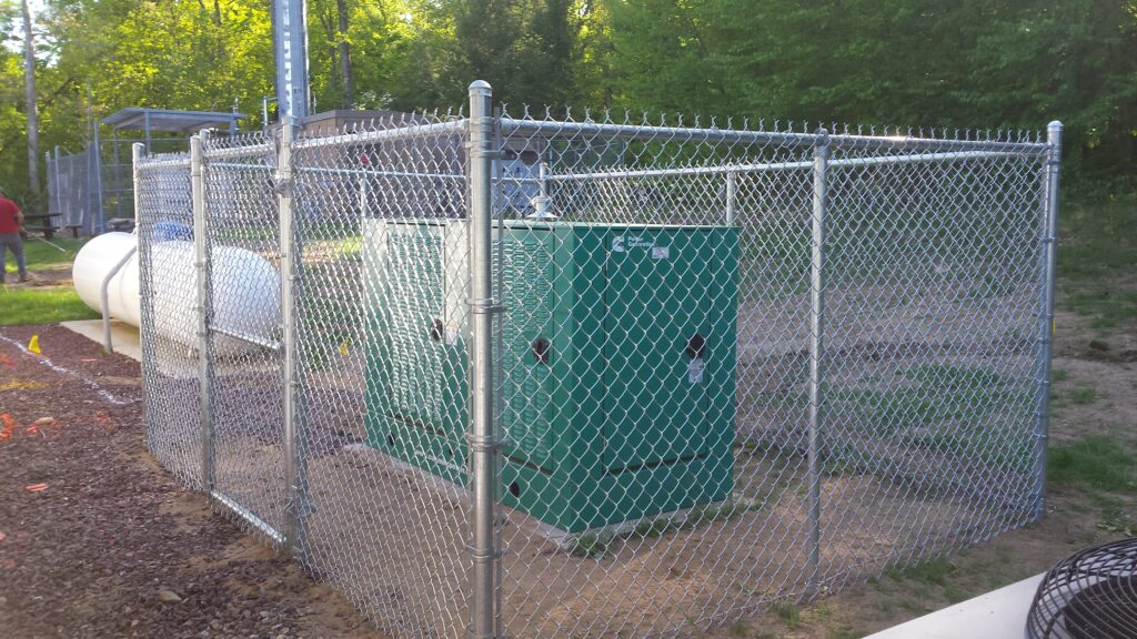 6_ H Galvanized Chain Link Security Enclosure