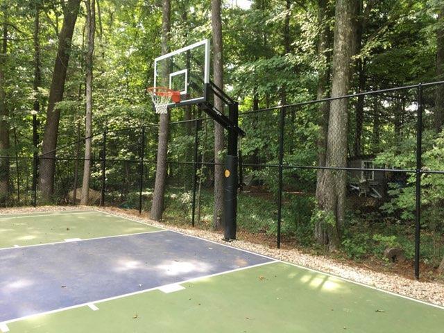 Black Chain Link Basketball Court