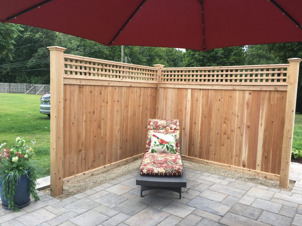 CFW - Cedar Lattice top Enclosure with Cedar Posts