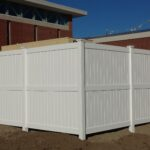 8_ H Solid White Privacy Vinyl Enclosure