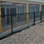 Black Vinyl Coated Chain Link Kennel Fence 1