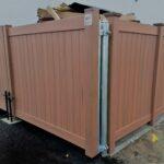 Commercial Cedar Grain Vinyl Dumpster Enclosure