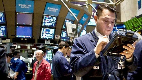 Stock broker on Stock Exchange