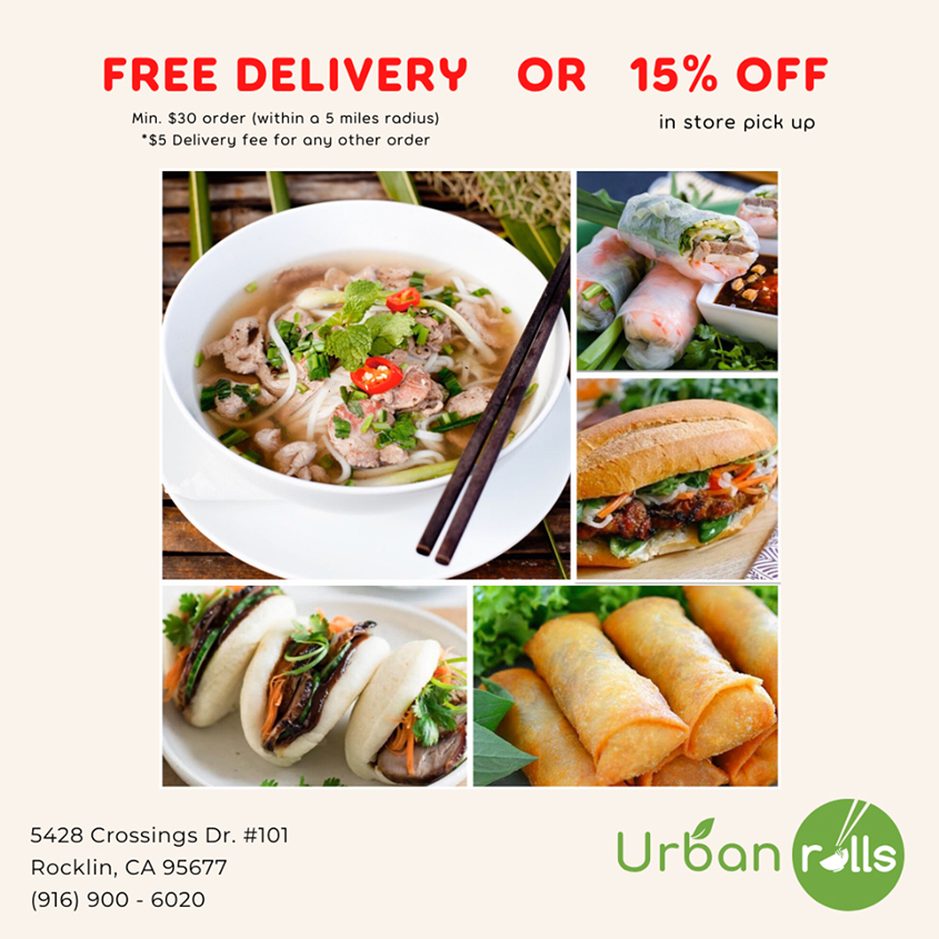 Urban Rolls - Free Delivery & 15% off in-store pick up