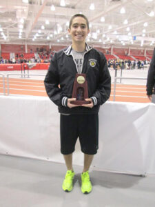 Coby Horowitz with his National Champion trophy.                                                   (Courtesy Darci Mickus)
