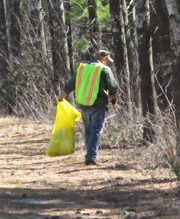 The Annual Stow Town Cleanup is just around the corner, under the  snow.  (Courtesy Sandy and Tara Taft)