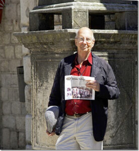 "Stow frequent traveler Bob Cooke introduces the Stow Independent to the ""pillar of shame"" in Kotor, Montenegro. The pillar is a ""punishment post"" where transgressors were required to stand as a public sign of guilt. Cooke admits no faults, intended or not, but had a great time on a trip visiting Slovenia, Croatia, Montenegro, Albania and Greece. Ten friends also went along on the small ship adventure, including Stow residents Jan and Ted Carvalho, who also admit neither guilt nor shame."