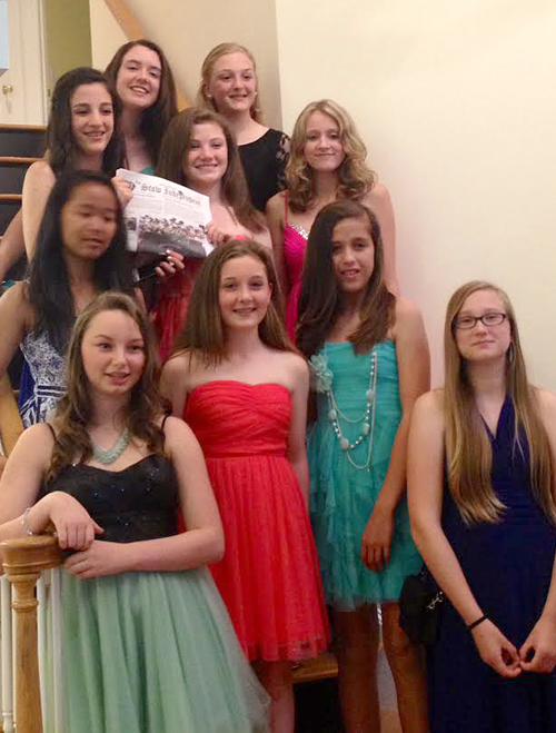 Hale Middle School students before the 8th grade Semi-Formal