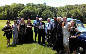 Members of Nashoba Drama met up with Al Capone and his gang at the Collings Foundation on Father's Day weekend.