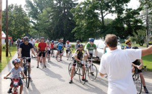 The start of last year's Bike for the Woods.  Greg Troxel photo