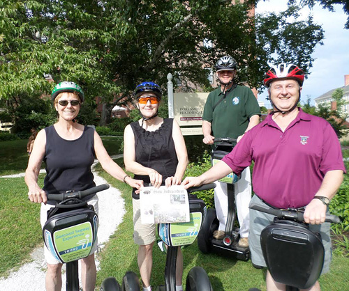 Sondra and Alex Rosiewicz visited Connie & Tom Zimmerman at their new home in Dover, NH and spent a day seeing the sights of Portsmouth on Segways.