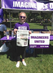 Rachel Hoff took The Stow Independent to the PurpleStride Boston event on the Boston Common on August 24. Her team Imagineers United was the top fundraiser team.  They raised $27,503 for cancer research to end pancreatic cancer which has a five-year survival rate of only 6%.