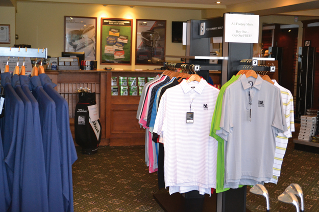 Some of the merchandise at the Stow Acres Golf Store. And that's just one of many places to do your shopping in Stow.                                                                            AnnNeedle