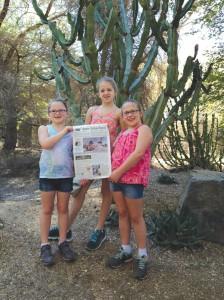 The Hollister Girls at The Living Desert in Palm Springs California.