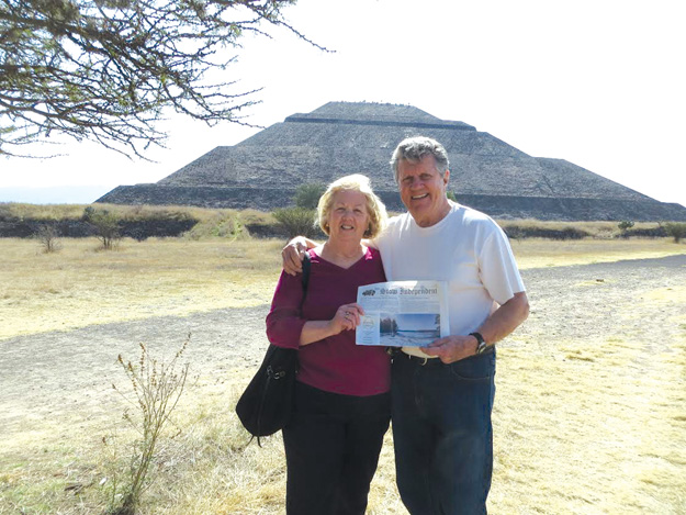 Roy and Diane Miller at the Pyramid of the Sun outside Mexico City.