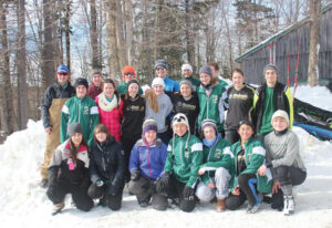 The Nordic Ski Team at the State Championship on Feb. 11                                    Courtesy