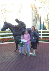 Amelia (8) and Jack (4) Dyda escaped the snow during a February vacation trip to Disney World where they visited their cousin Elizabeth, who is part of the Disney College Program.
