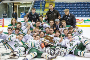 After winning the distict championship last week, Nashoba hockey played on to win the Division 3A State Championship for the first time in school history.      Susan  Shaye