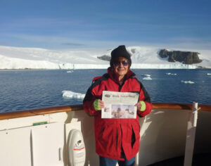 Jane Epstein didn't find there was enough cold, snow, and ice in Stow, so headed for Antarctica! -- her 7th continent.