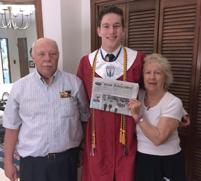 Gladys and Guy Beaudette brought The Stow Independent to Harlingen, Texas, for the graduation of their grandson, Joseph Sisto.  Joe graduated from Harlingen High School on May 29, 14th in a class of 547.  He will enroll in Boston University in the fall.