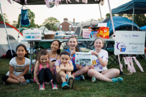 Rachel Hoff (far right) recently participated in the Relay for Life cancer event with some friends in Sudbury. Her team raised more than $2,000!  Her friend, Hope Weldon from Sudbury, was the captain of the team at age 13.
