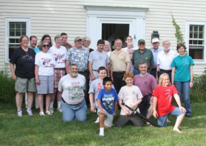 Current and former Stow Minutemen gathered for the 50th celebration. Ann Needle photo