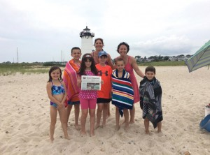 The Brown and Herbertz families enjoyed a great beach day at the Edgartown Lighthouse beach on Martha's Vineyard.  The kids swam, collected some beautiful seashells, and made a giant sand castle!