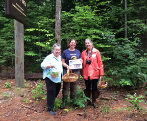Regina Shopiro, Rebecca Mattison (both of Stow), and Barbara Shopiro took the Stow Independent along for a mushrooming class in Tamworth, NH with the NH Mushroom Company