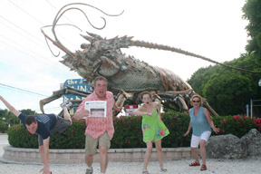 The Wilber family – Jared, Bob, Lindsey and Karen fleeing from a menacing giant spiny lobster while on vacation to Key West, Florida prior to dropping Jared off for his freshman year at Emory University in Atlanta, Georgia.