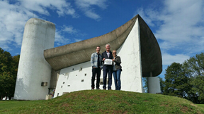 During a visit to his native Switzerland, Stow resident Raoul Graf brought the Stow Independent and his older children living in California, Olivia and Tommy, to the famous chapel of Notre Dame du Haut in Ronchamp, France, built by Le Corbusier 60 years ago. Another memorable moment of many was the final hike to Creux du Van, Val de Travers, in Switzerland.
