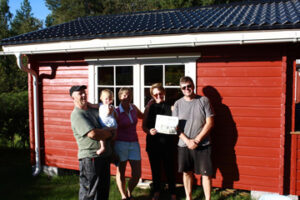 Greg and Geri Bebernitz visited Maggan and Elias Burr Nyberg and their granddaughter Amalia at their summer home near Skelleftea, Sweden in August 2015.  Geri and Maggan played golf while Greg and Elias built a barn.  Fun was had by all.