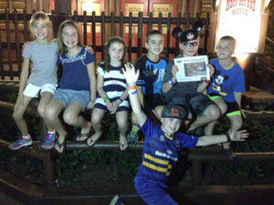 Families Dyda, Hastings, Reiner, and Ricketts had a great time at Disney's Hoop-Dee-Doo Musical Revue!