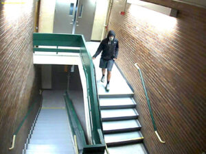 Two of the enhanced video stills from Nashoba security camera.  More are posted on the Bolton Police Facebook page.                                                                    Courtesy Bolton Police