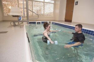 Emerson Hospital's  aqua therapy pool, opened in summer 2015, is located at the hospital's Center for Rehabilitative and Sports Therapies in Concord. According to Emerson, the pool is the first of its kind in the Boston-Worcester area.                      Courtesy