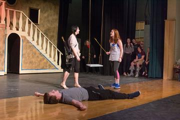 Hayley Giovinazzo of Stow (Wednesday, left) and Brooke Winamann as Alice Beineke.      Jonathan Daisy