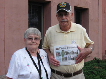 Bill Byron and Dot Spaulding  at the Old jail house, St. Augustine, Florida