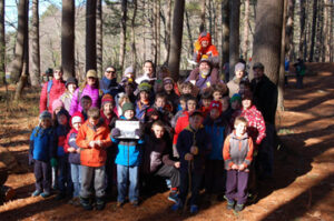 In March, Stow Pack 39  Cub Scouts and their families hiked into the Stow Town Forest for their annual Spring Hike.  They enjoyed a light breakfast and participated in skits, camp stories, and more!  For more information on Stow Pack 39 visit http://pack39stow.org