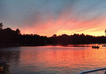 Lake Boon sunset in July                                                                                                                           Courtesy Jeff Needle