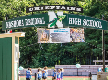 A special banner was hung at Nashoba in honor of the day       SusanShaye.com